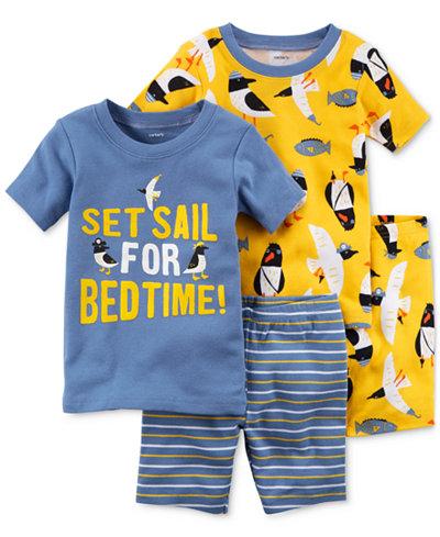 Carter's 4-Pc. Penguin-Print Cotton Pajama Set, Baby Boys