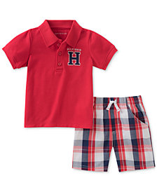 Tommy Hilfiger 2-Pc. Polo & Plaid Shorts Set, Baby Boys