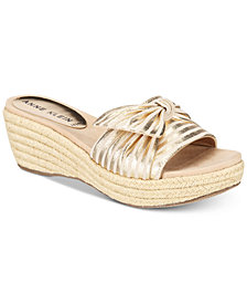 Anne Klein Zandal Slip-On Platform Espadrille Wedge Sandals