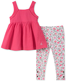 Calvin Klein 2-Pc. Halter Top & Leggings Set, Little Girls