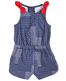 First Impressions Patchwork Cotton Romper, Baby Girls, Created for Macy's