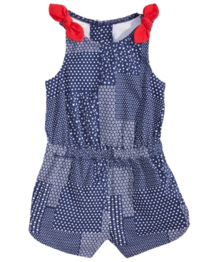 First Impressions Patchwork Cotton Romper Baby Girls Created for Macys