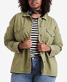 Levi's® Plus Size Cotton Embroidered Jacket