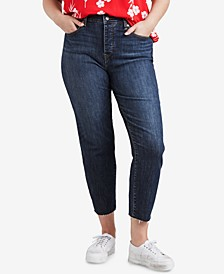 Trendy Plus Size  High-Waist Skinny Wedgie Jeans