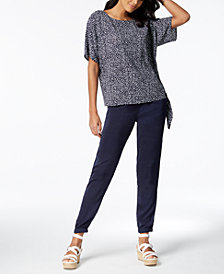 MICHAEL Michael Kors Paisley Side-Tie Top & Drawstring Jogger Pants