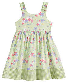 Blueberi Boulevard Floral-Print Cotton Sundress, Little Girls
