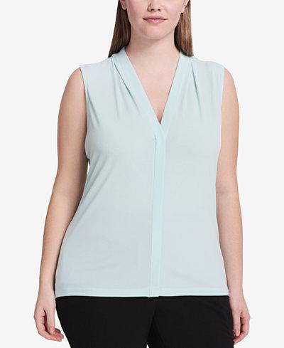 Calvin Klein Plus Size V-Neck Shell