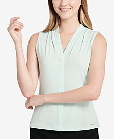 Calvin Klein V-Neck Shell, Regular & Petite