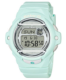 Baby-G Women's Digital Green Resin Strap Watch 42.6mm