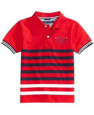 Tommy Hilfiger Striped Polo, Toddler Boys