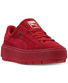 Puma Women's Suede Platform Trace Valentine's Day Casual Sneakers from Finish Line