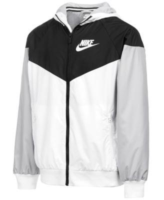 black and white nike coat