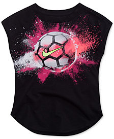 Nike Soccer-Ball Cotton T-Shirt, Little Girls