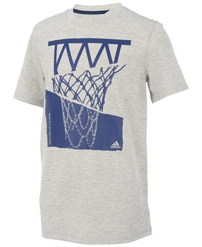 adidas Hoop-Print T-Shirt, Little Boys
