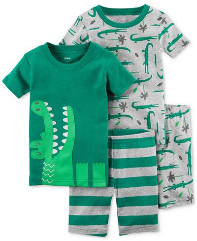 Carter's 4-Pc. Cotton Alligator Pajama Set, Toddler Boys
