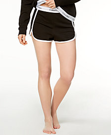Calvin Klein Contrast-Trim Sleep Shorts QS5982