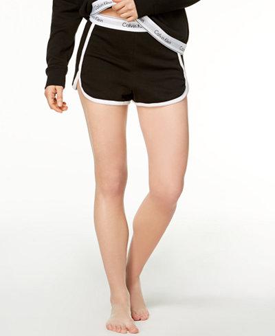 Calvin Klein Contrast-Trim Sleep Shorts QS5982