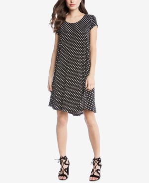 MAGGIE PRINTED TRAPEZE DRESS