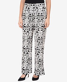 NY Collection Printed Straight-Leg Pants