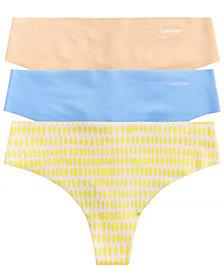 Calvin Klein Invisibles Thong 3-Pack QD3558