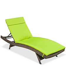 Justin Outdoor Chaise Lounge, Quick Ship