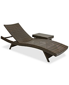 Monterey Outdoor Chaise Lounge and Table Set