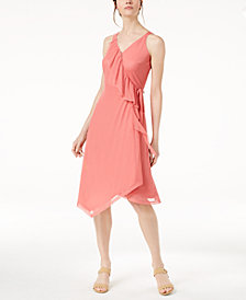 Love Scarlett Petite Ruffled Wrap Dress, Created for Macy's