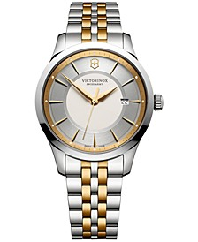 Men's Swiss Alliance Two-Tone Stainless Steel Bracelet Watch 40mm