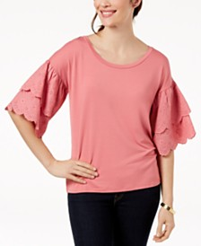 Love Scarlett Petite Ruffled-Sleeve Top, Created for Macy's