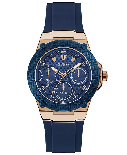 ec4a630a00698 GUESS Women s Blue Silicone Strap Watch 39mm  GUESS Women s Blue Silicone  Strap Watch ...