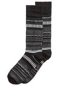Perry Ellis Men's Soft Luxury Striped Dress Socks