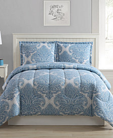 Medallions 3-Pc. Reversible Full/Queen Comforter Set, Created for Macy's