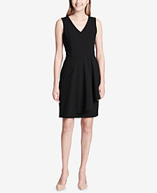 Calvin Klein Ruffle-Detail A-Line Dress