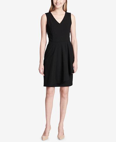Calvin Klein Ruffle-Detail A-Line Dress