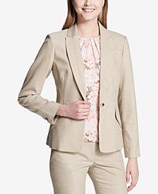 Calvin Klein Seamed Textured Blazer
