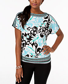 JM Collection Boat-Neck Dolman-Sleeve Top, Created for Macy's