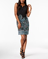 2dc765d15b0 JM Collection Printed Lace-Up Dress, Created for Macy's