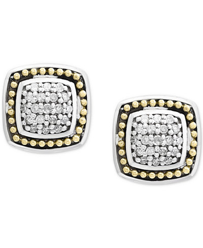 Balissima By Effy Diamond Cer Stud Earrings 1 6 Ct T W