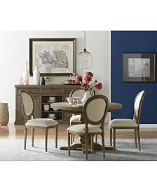 Tristan Round Expandable Dining Furniture Collection, Created For Macy's