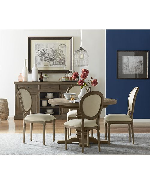 Tristan Round Expandable Dining Furniture Collection Created For Macy S