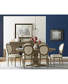 Tristan Round Expandable Dining Furniture, 7-Pc. Set (Table & 6 Side Chairs)
