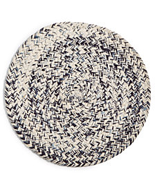 Lucky Brand Chevron Fleck Round Placemat, Created for Macy's