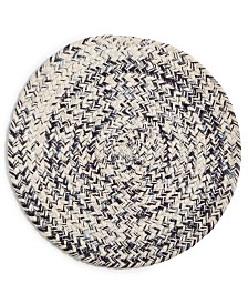 Lucky Brand Blue Chevron Round Placemat, Created for Macy's