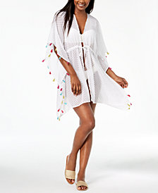 I.N.C. Chevron Jacquard Tassel Cover-Up, Created for Macy's