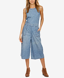 Lucky Brand Cotton Denim Culotte Jumpsuit