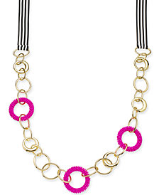 "Trina Turk x I.N.C. Gold-Tone Bead & Link Ribbon 36"" Statement Necklace, Created for Macy's"