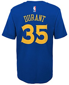Nike Kevin Durant Golden State Warriors Replica Name & Number T-Shirt, Little Boys (4-7)