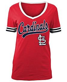 Women's St. Louis Cardinals Retro V-Neck T-Shirt