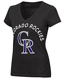 G-III Sports Women's Colorado Rockies Classic Logo V-Neck T-Shirt