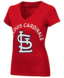 G-III Sports Women's St. Louis Cardinals Classic Logo V-Neck T-Shirt